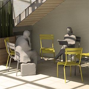 Illustration 3D Laubywane pour l'agence Éole concept